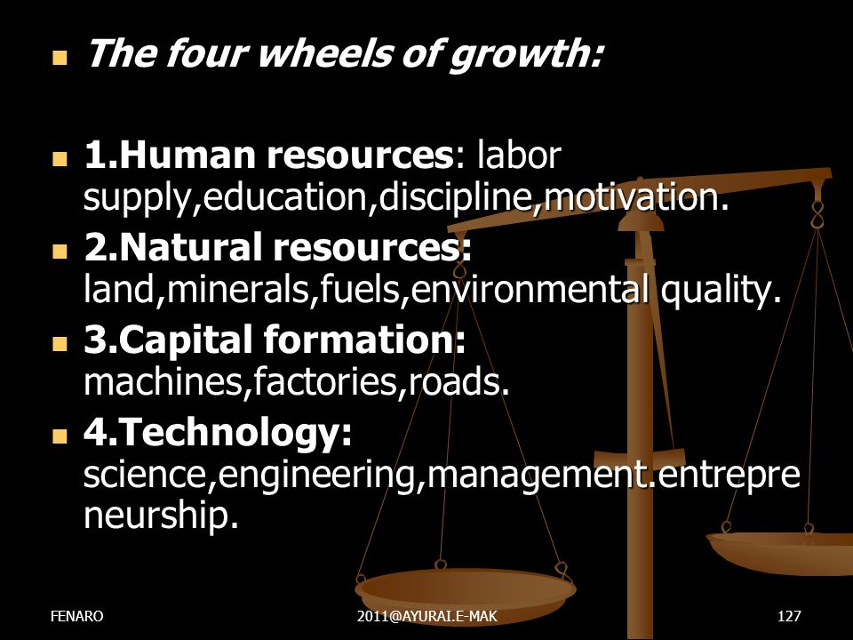 The four wheels of growth: