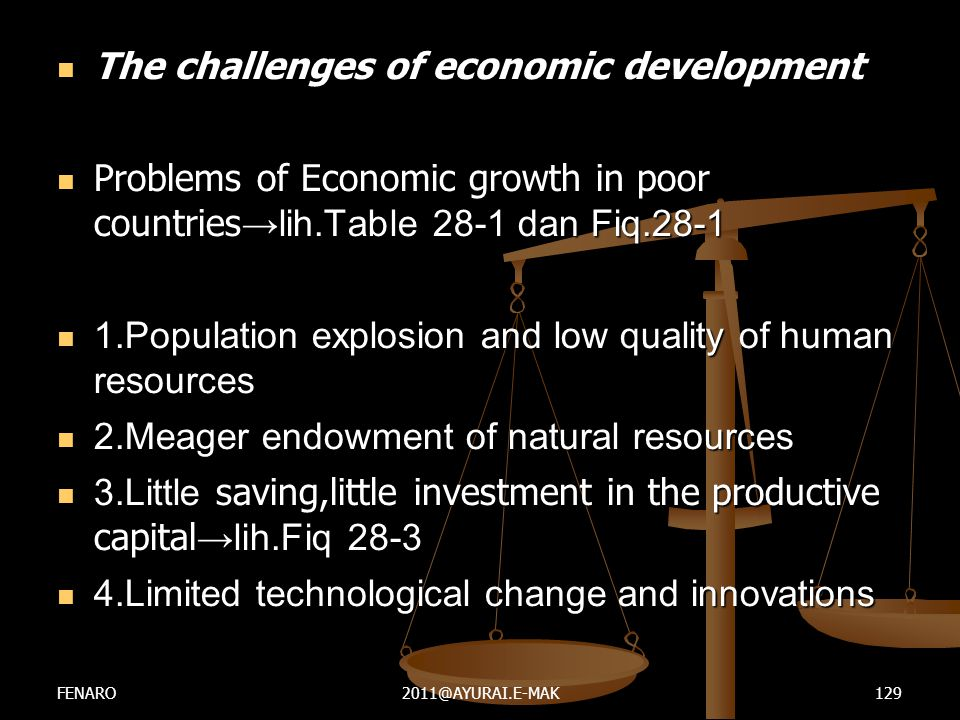 The challenges of economic development