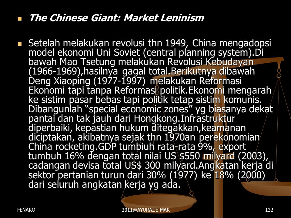 The Chinese Giant: Market Leninism