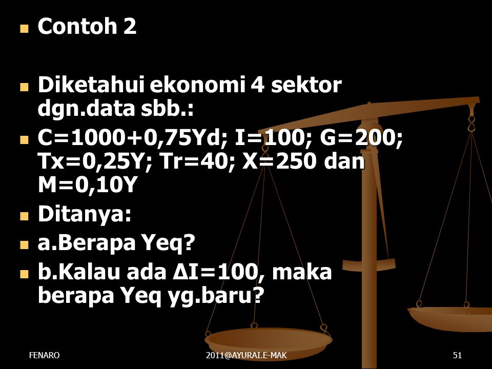 Diketahui ekonomi 4 sektor dgn.data sbb.: