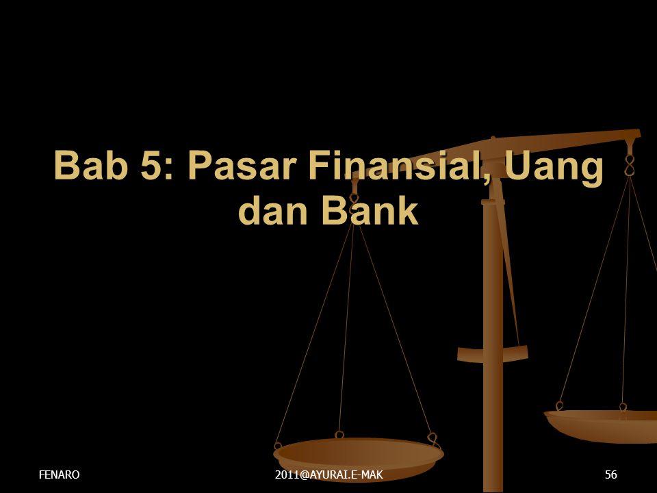 Bab 5: Pasar Finansial, Uang dan Bank