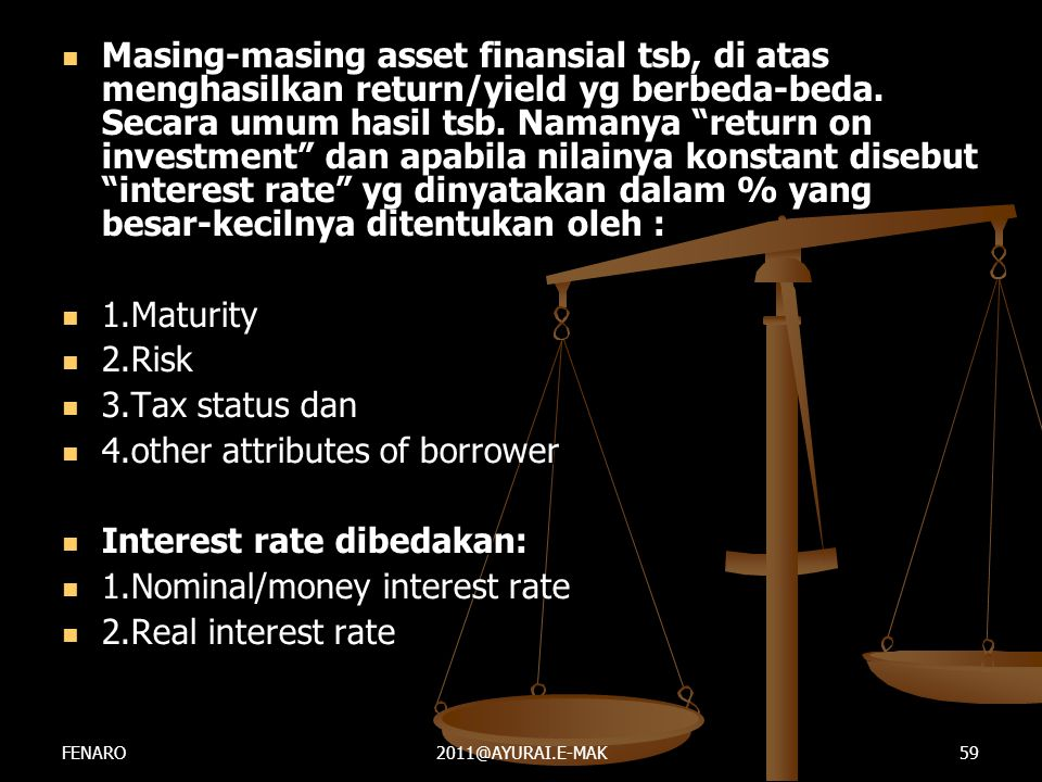 4.other attributes of borrower Interest rate dibedakan: