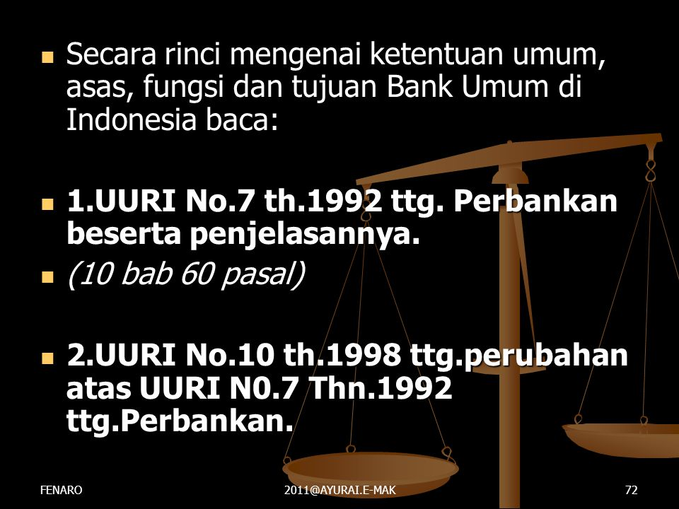 1.UURI No.7 th.1992 ttg. Perbankan beserta penjelasannya.