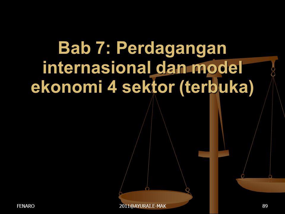 Bab 7: Perdagangan internasional dan model ekonomi 4 sektor (terbuka)