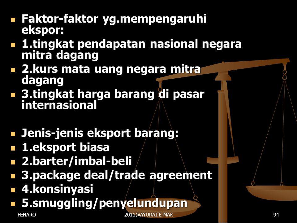 Faktor-faktor yg.mempengaruhi ekspor: