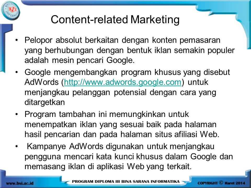 Content-related Marketing