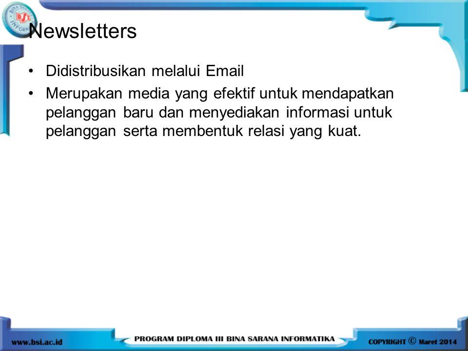 Newsletters Didistribusikan melalui Email