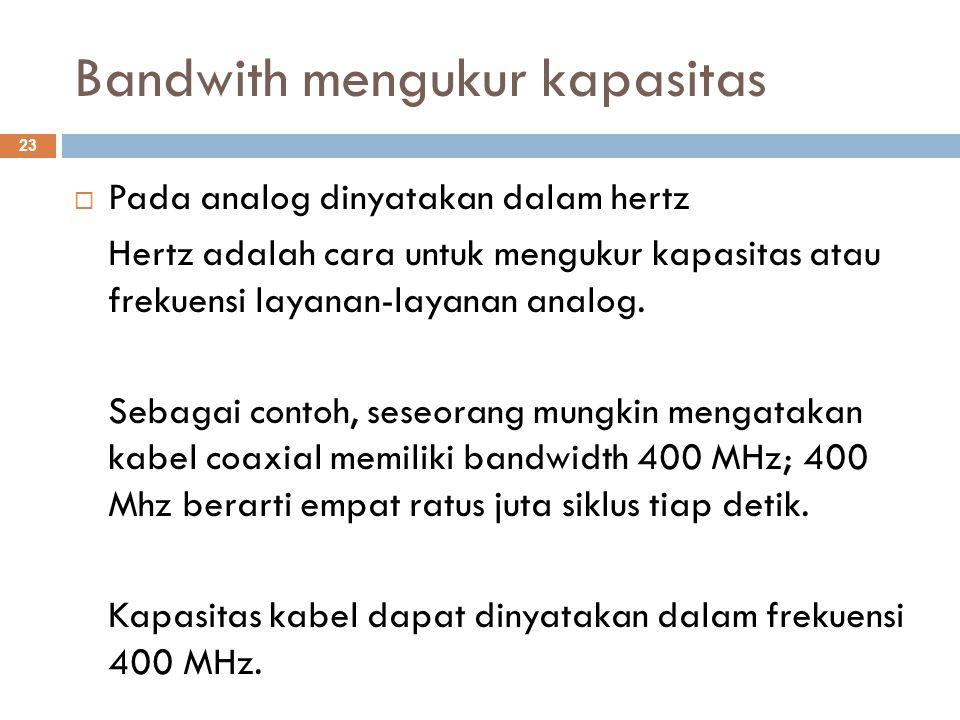 Bandwith mengukur kapasitas