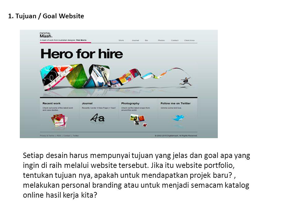 1. Tujuan / Goal Website