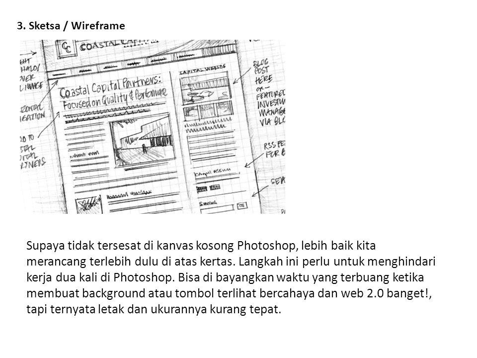 3. Sketsa / Wireframe