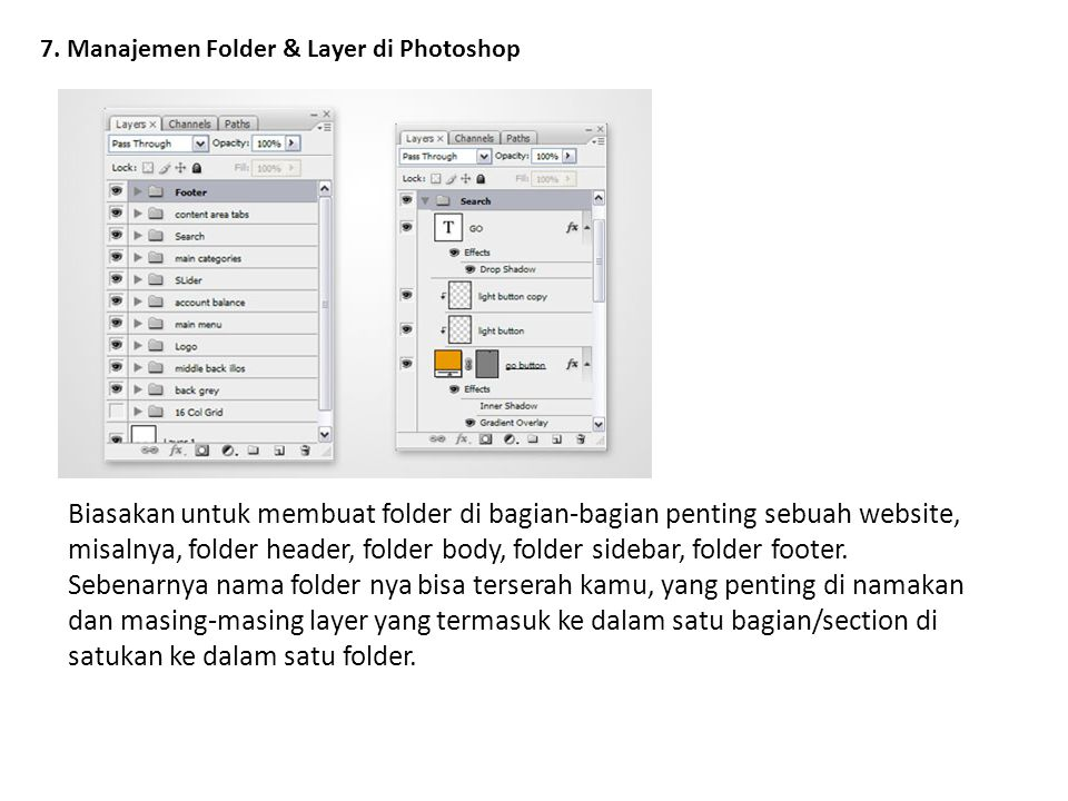 7. Manajemen Folder & Layer di Photoshop