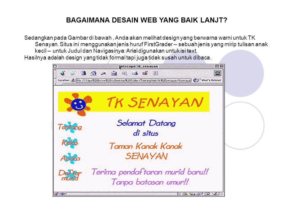 BAGAIMANA DESAIN WEB YANG BAIK LANJT