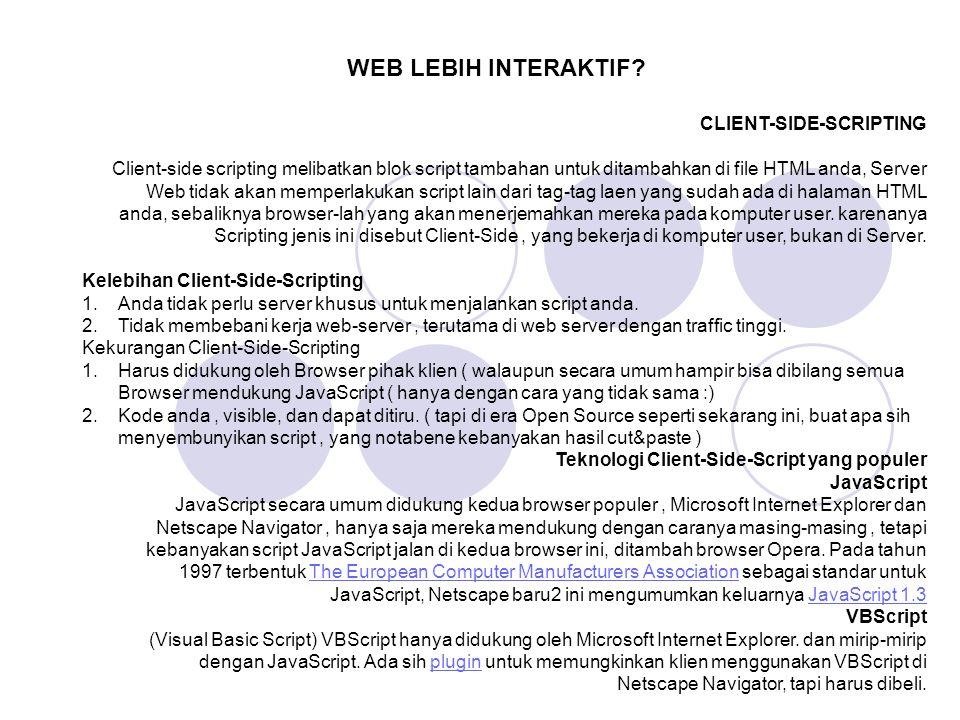 WEB LEBIH INTERAKTIF CLIENT-SIDE-SCRIPTING