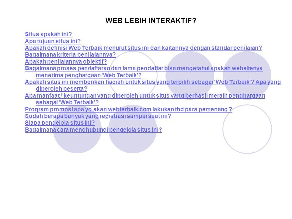 WEB LEBIH INTERAKTIF Situs apakah ini Apa tujuan situs ini