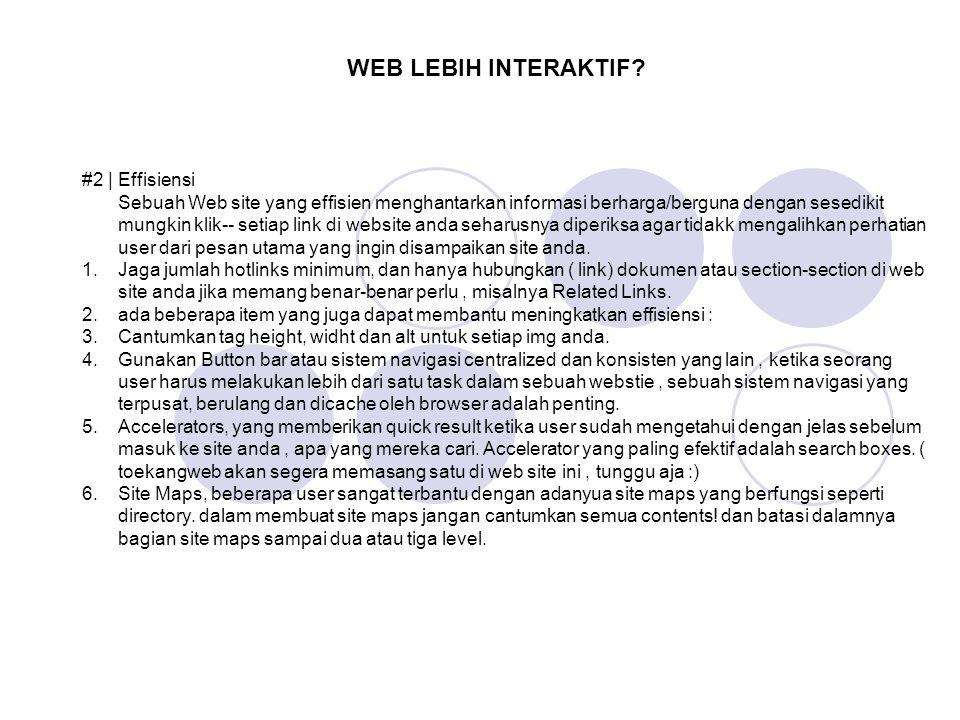 WEB LEBIH INTERAKTIF