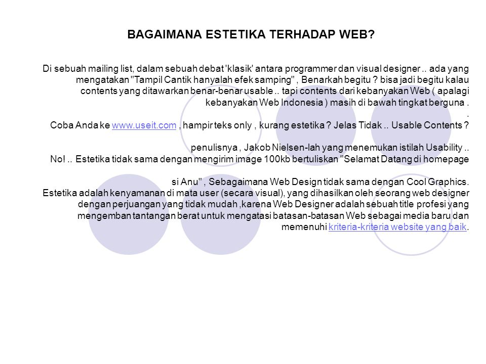 BAGAIMANA ESTETIKA TERHADAP WEB