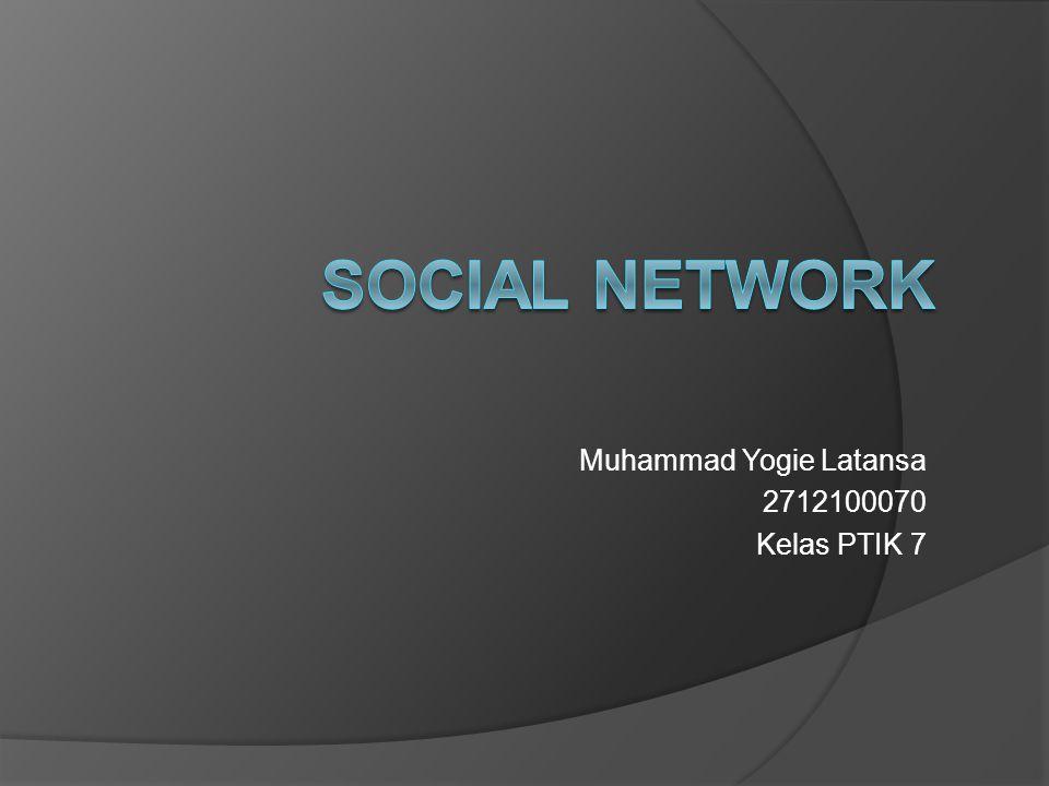 Muhammad Yogie Latansa 2712100070 Kelas PTIK 7
