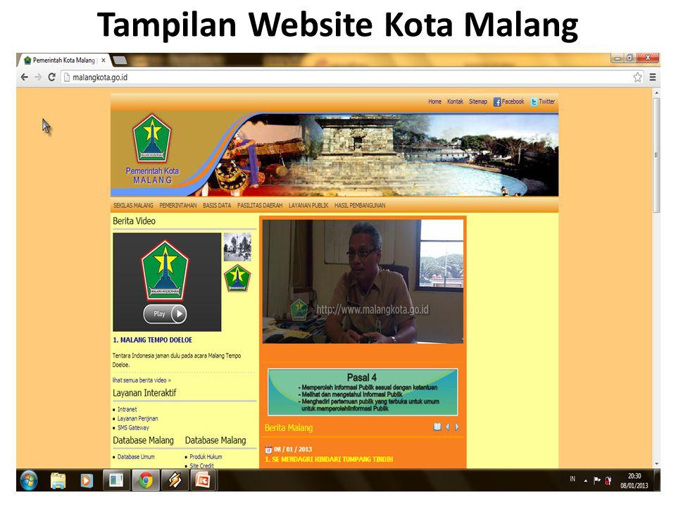 Tampilan Website Kota Malang