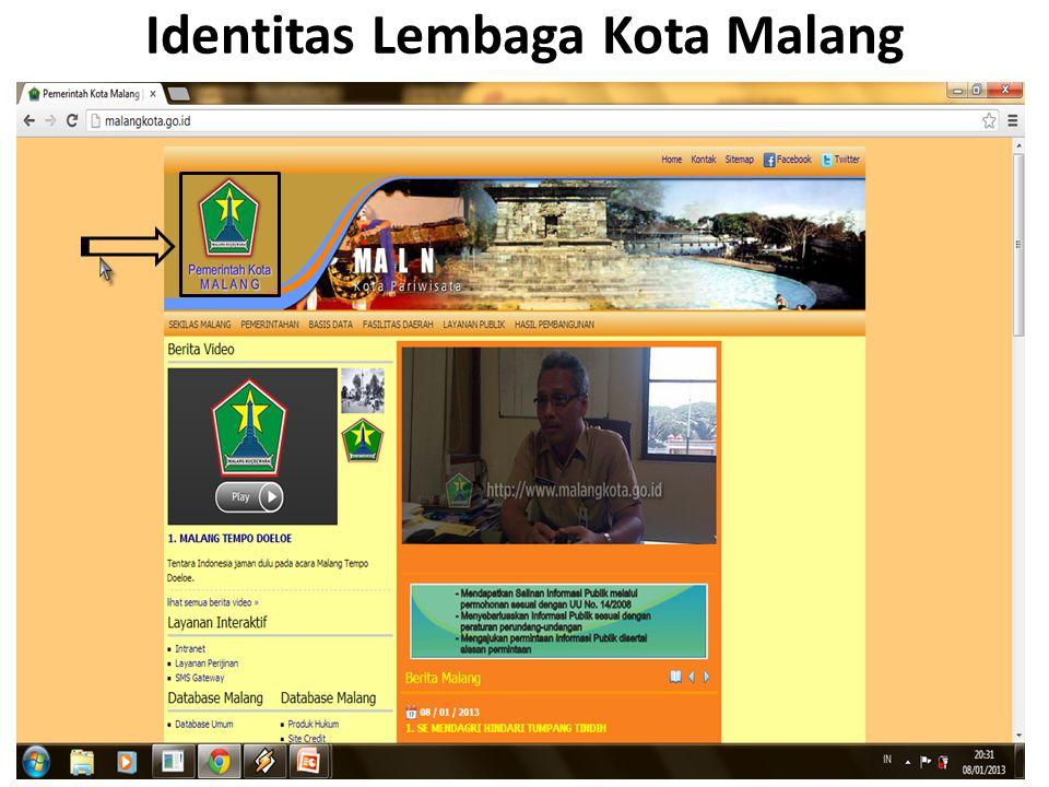Identitas Lembaga Kota Malang