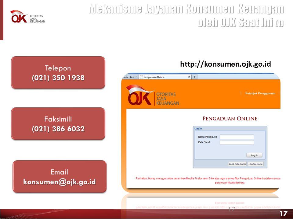 Mekanisme Layanan Konsumen Keuangan oleh OJK Saat Ini (1)