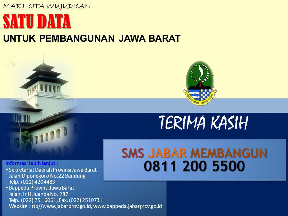 TERIMA KASIH SATU DATA 0811 200 5500 SMS JABAR MEMBANGUN