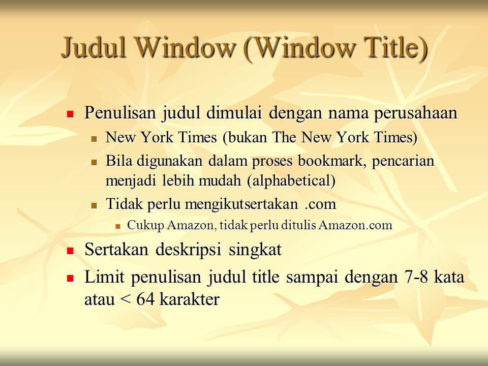 Judul Window (Window Title)