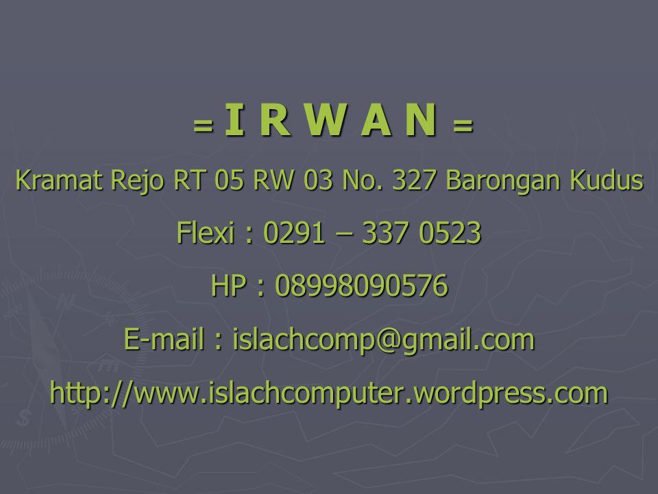 E-mail : islachcomp@gmail.com http://www.islachcomputer.wordpress.com