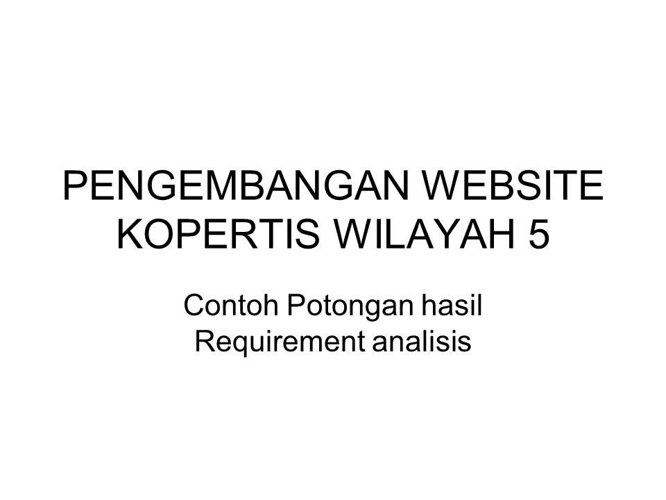 PENGEMBANGAN WEBSITE KOPERTIS WILAYAH 5