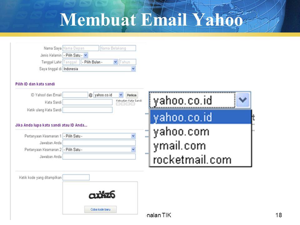 Membuat Email Yahoo Pengenalan TIK