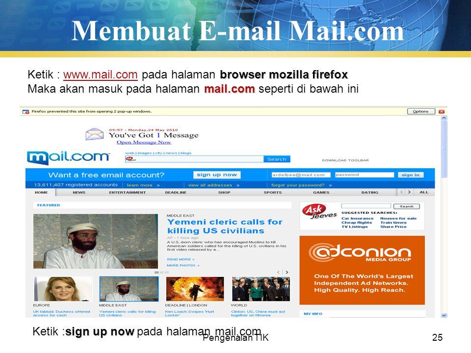 Membuat E-mail Mail.com