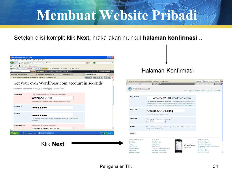 Membuat Website Pribadi