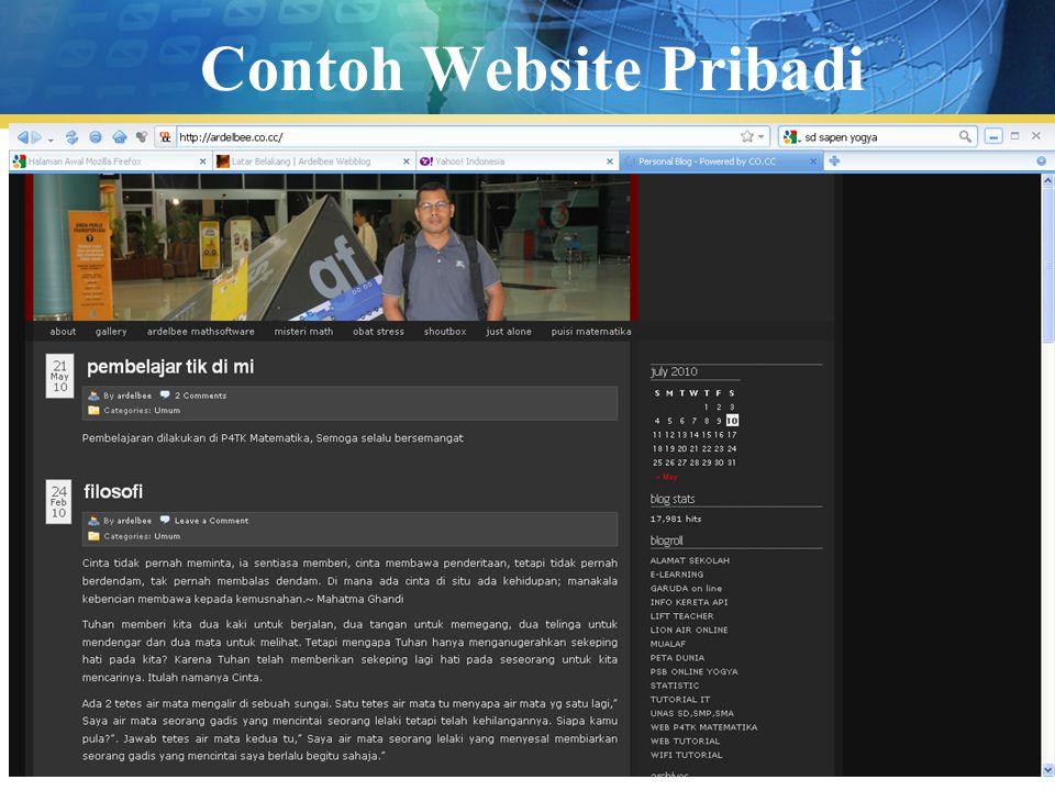 Contoh Website Pribadi