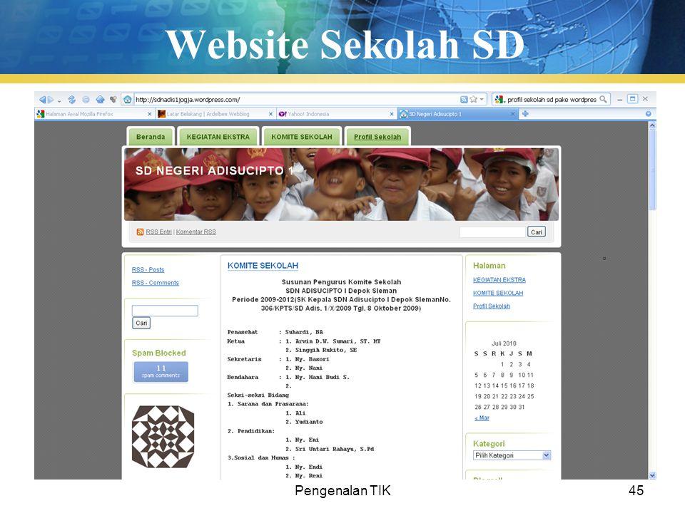 Website Sekolah SD Pengenalan TIK