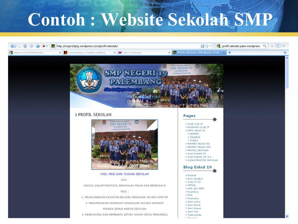 Contoh : Website Sekolah SMP