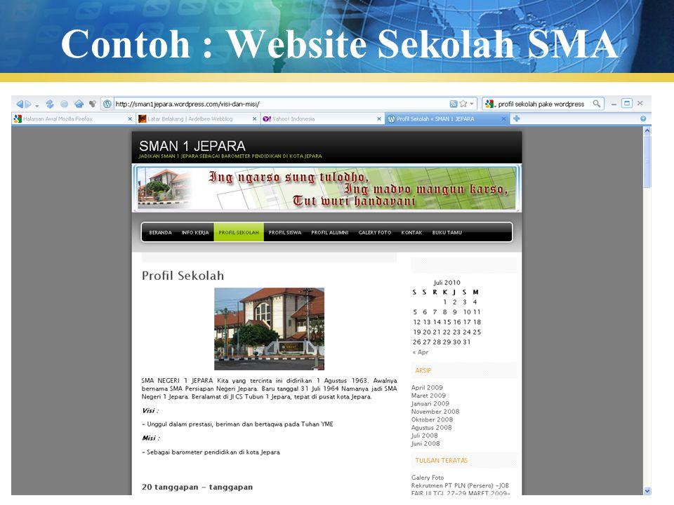 Contoh : Website Sekolah SMA