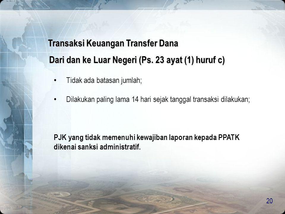 Transaksi Keuangan Transfer Dana