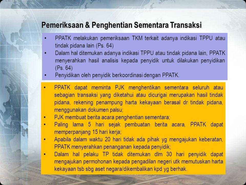 Pemeriksaan & Penghentian Sementara Transaksi
