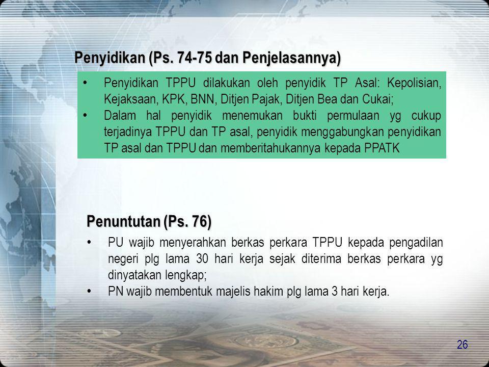 Penyidikan (Ps. 74-75 dan Penjelasannya)