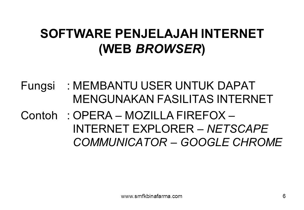 SOFTWARE PENJELAJAH INTERNET (WEB BROWSER)