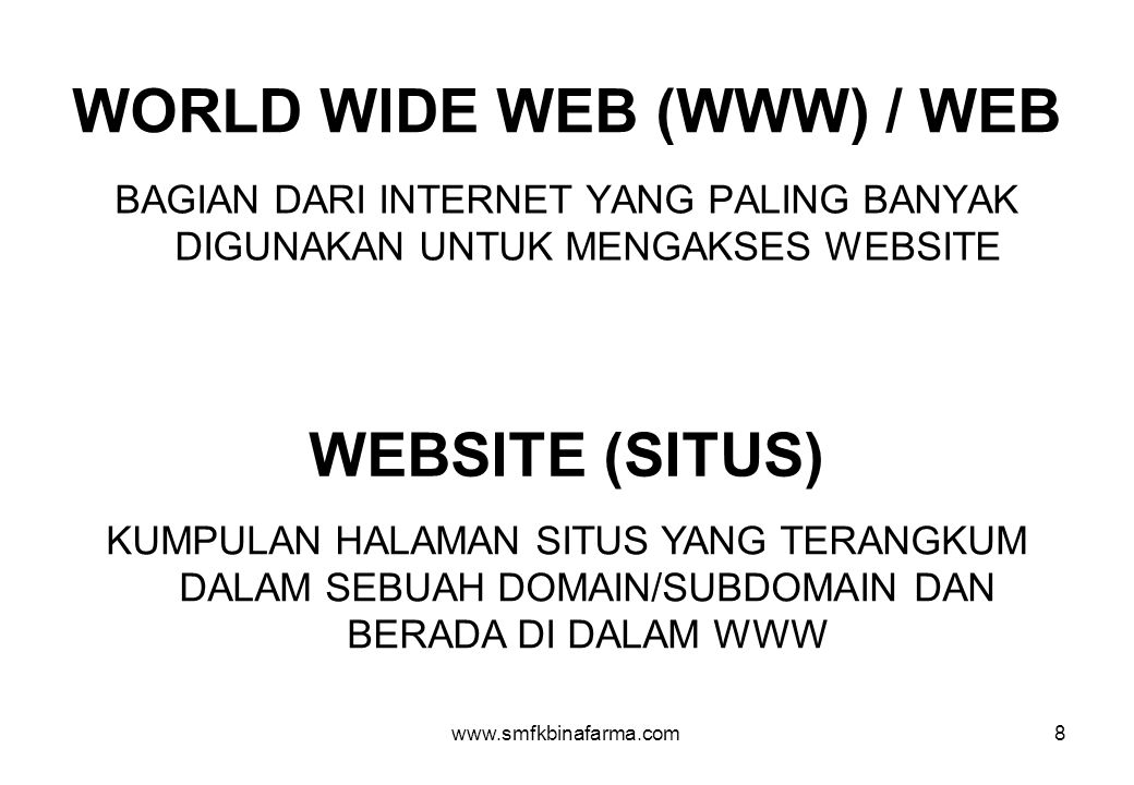 WORLD WIDE WEB (WWW) / WEB