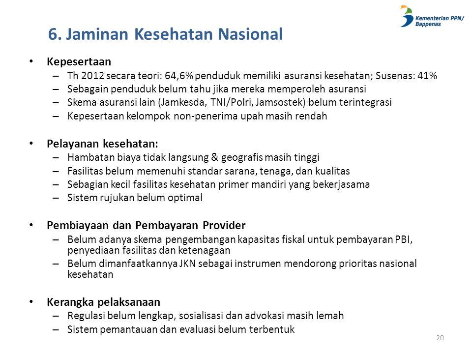 6. Jaminan Kesehatan Nasional
