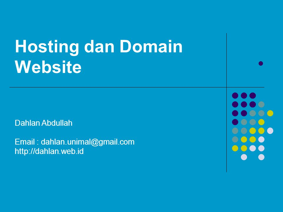 Hosting dan Domain Website