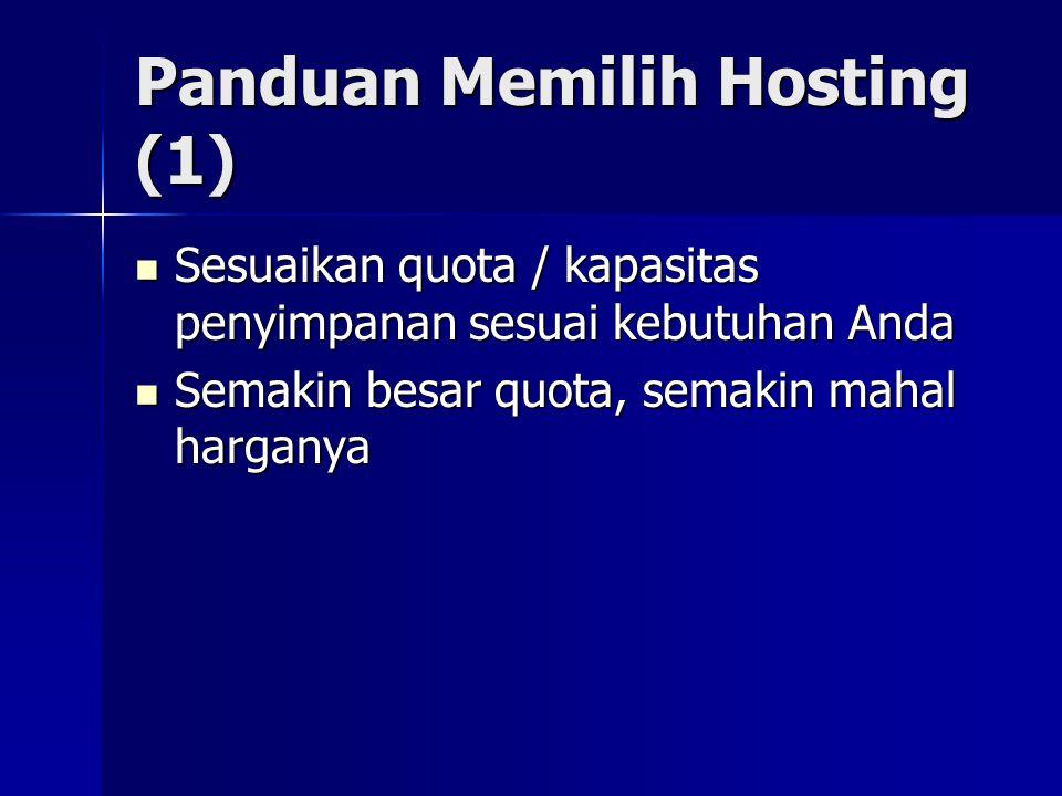 Panduan Memilih Hosting (1)
