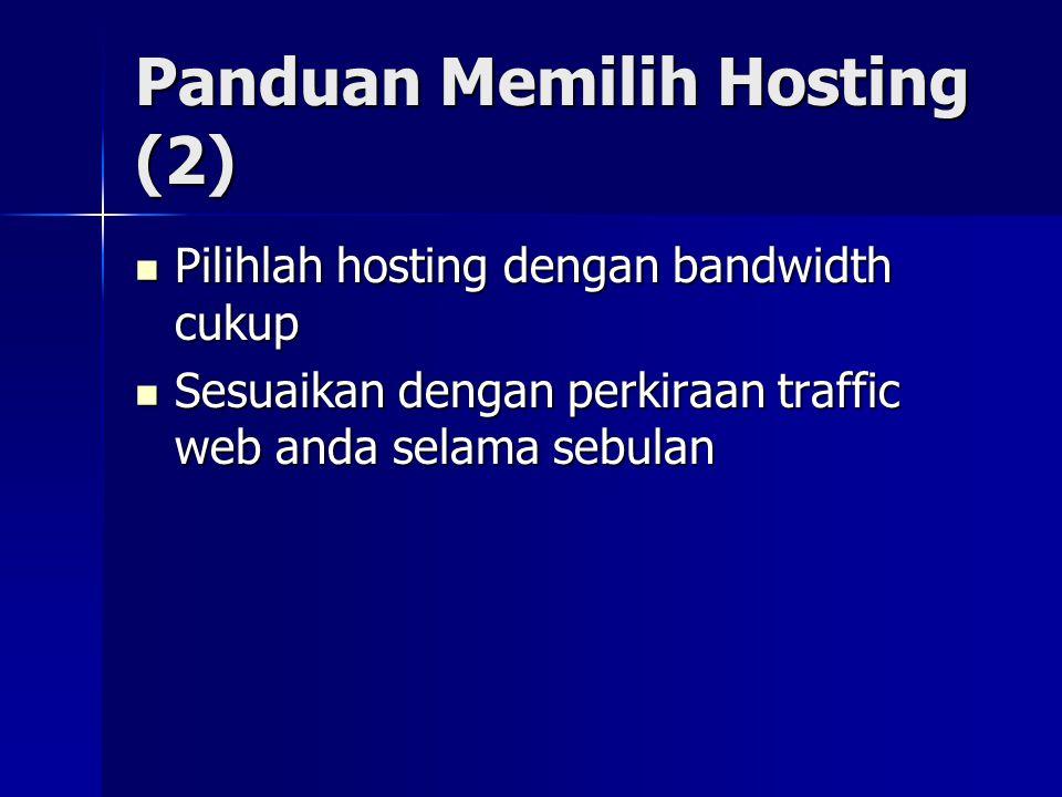 Panduan Memilih Hosting (2)