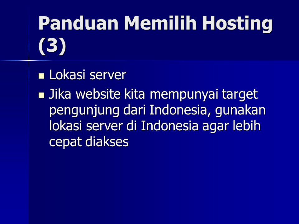 Panduan Memilih Hosting (3)