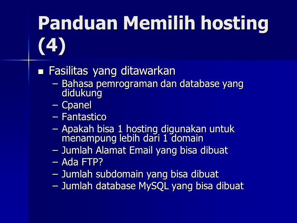 Panduan Memilih hosting (4)