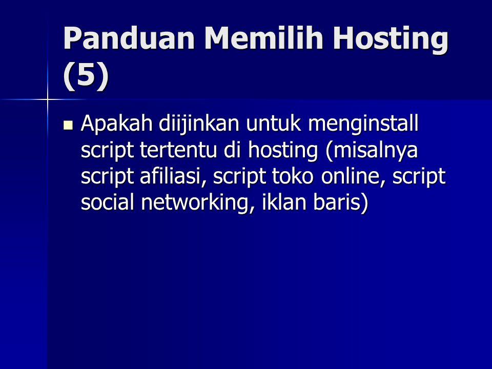 Panduan Memilih Hosting (5)
