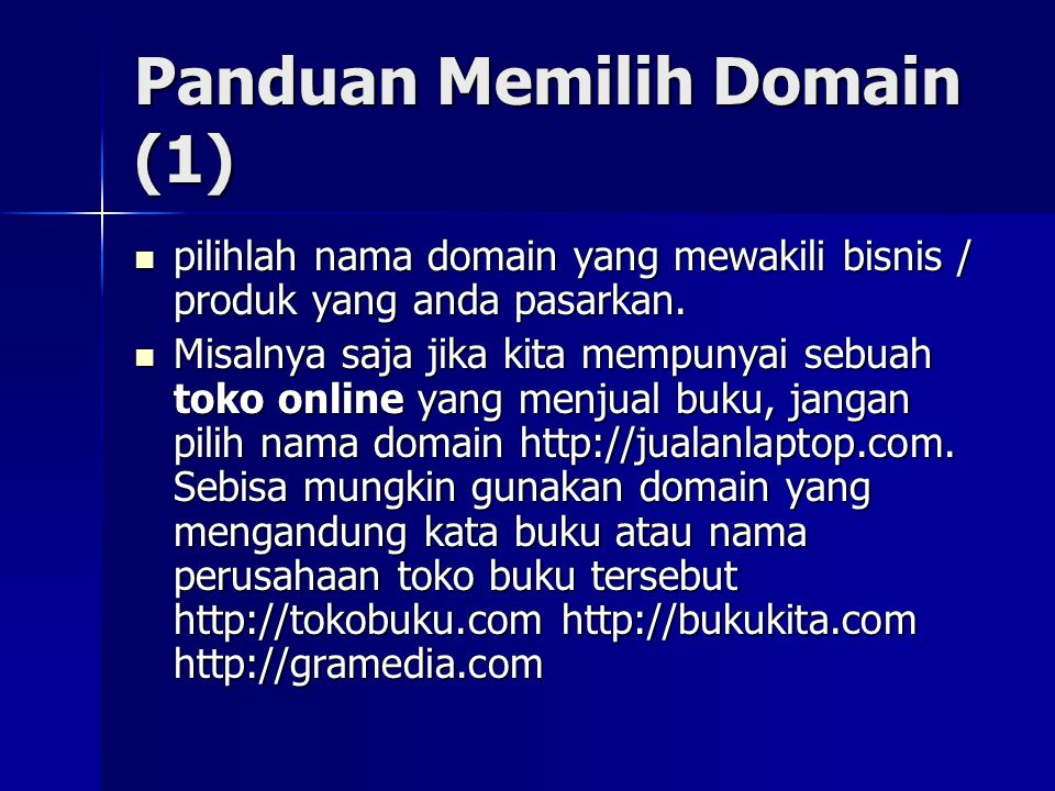 Panduan Memilih Domain (1)