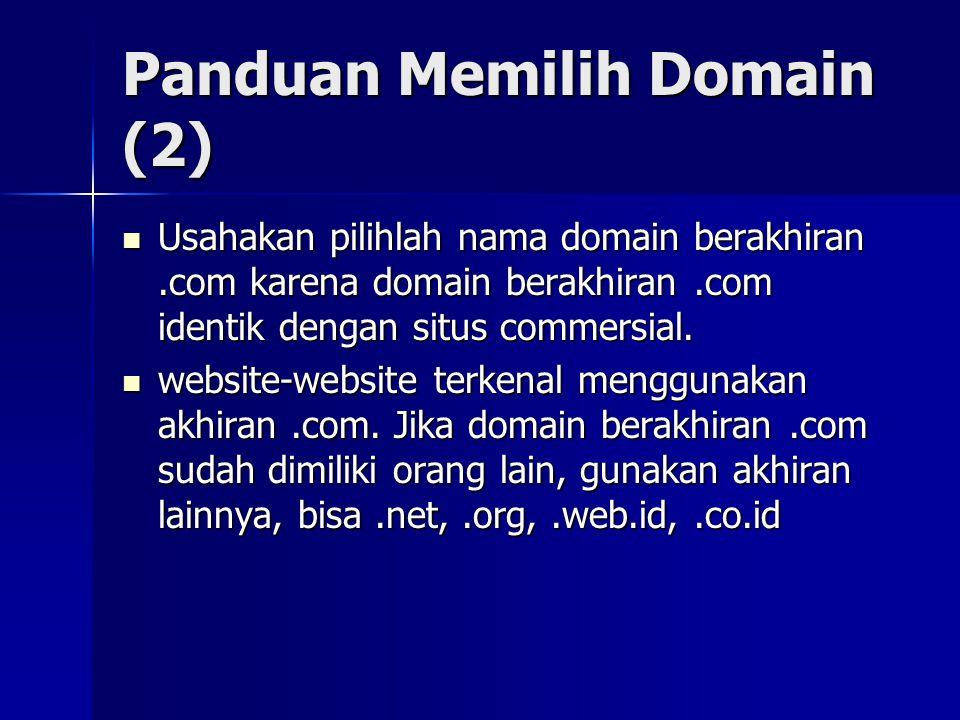 Panduan Memilih Domain (2)