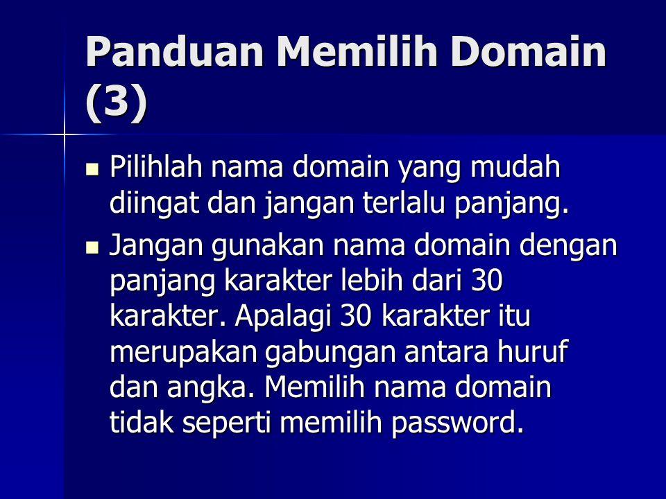 Panduan Memilih Domain (3)